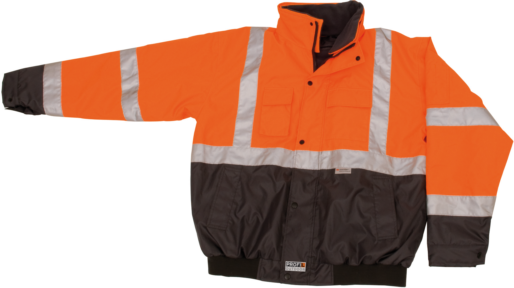 Warn-/Wetterschutz Jacke orange, S PROFIL