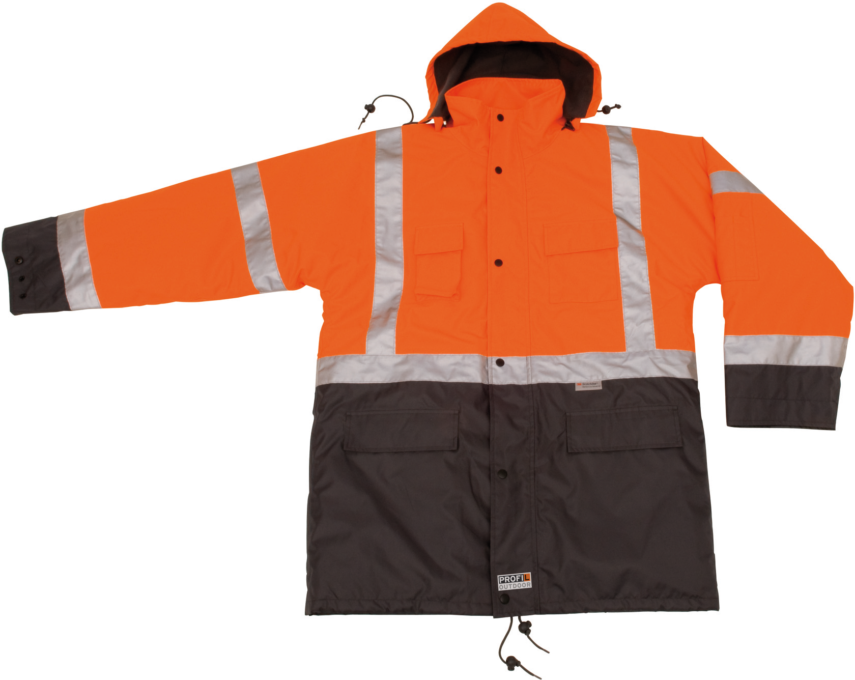 Warn-Wetterschutzparka orange, S PROFIL